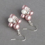 Dusky Pink Stardust Cluster Earrings