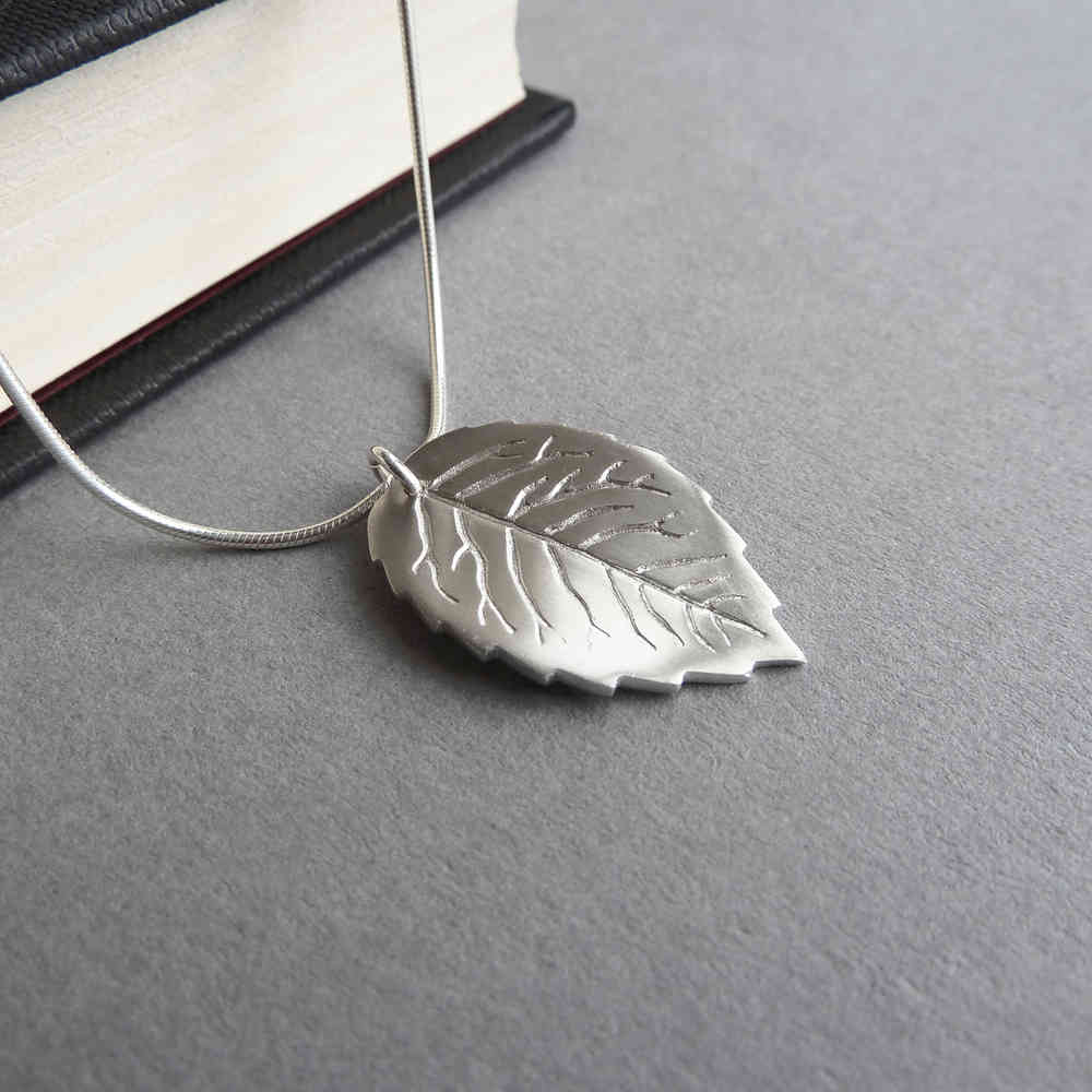pendant original caitlan birthstone leaf necklace boutique march bloomboutique bloom personalised by product