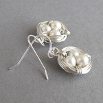 Ivory Freshwater Pearl Nest Earrings