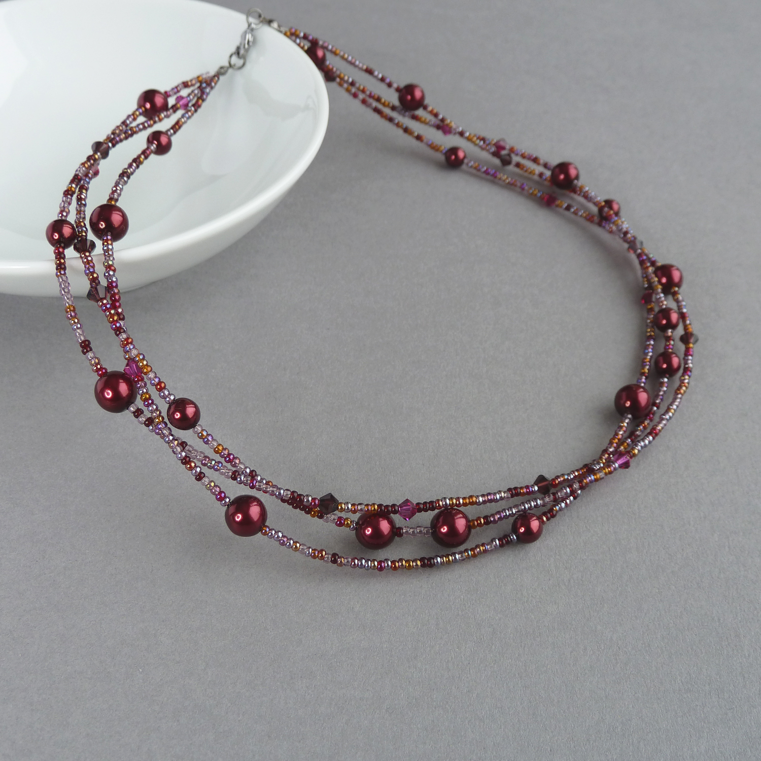 crimson sale red bead at large orange id necklace for beaded garnet necklaces j jewelry z