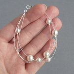 White Floating Pearl Bracelet