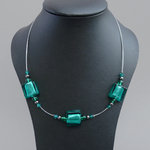 Teal Fused Glass Necklace