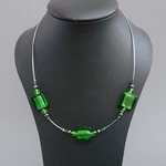 Green Fused Glass Necklace