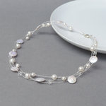 White Multi-strand Freshwater Pearl Necklace