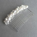 Ivory Pearl Stardust Hair Comb