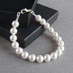 White Simple Pearl Bracelet