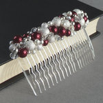 Claret Red Stardust Hair Comb