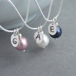 Personalised Pearl Drop Necklace