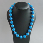 Sea Blue Chunky Bead Necklace