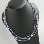 Lilac Multi Strand Necklace