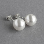 10mm White Pearl Stud Earrings
