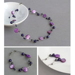 Purple Floating Pearl Jewellery Set