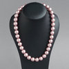 Chunky Dusky Pink Pearl Necklace