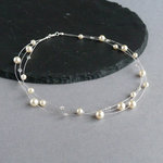 Cream Floating Pearl Necklace