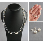 Cream Floating Pearl Jewellery Set
