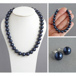 Navy Blue Chunky Jewellery Set