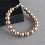 Simple Bronze Pearl Bracelet