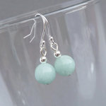 Simple Mint Green Drop Earrings